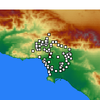 Nearby Forecast Locations - West Hollywood - Χάρτης
