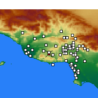 Nearby Forecast Locations - Westlake Village - Χάρτης