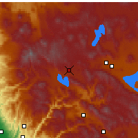 Nearby Forecast Locations - Westwood - Χάρτης