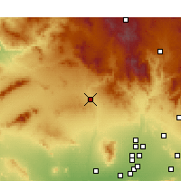 Nearby Forecast Locations - Wickenburg - Χάρτης