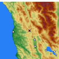 Nearby Forecast Locations - Willits - Χάρτης