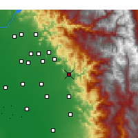 Nearby Forecast Locations - Woodlake - Χάρτης