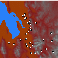 Nearby Forecast Locations - Woods Cross - Χάρτης