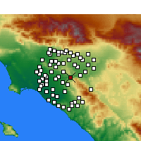 Nearby Forecast Locations - Yorba Linda - Χάρτης