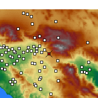 Nearby Forecast Locations - Yucaipa - Χάρτης