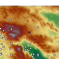 Nearby Forecast Locations - Yucca Valley - Χάρτης