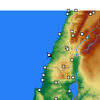Nearby Forecast Locations - Τύρος - Χάρτης