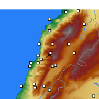 Nearby Forecast Locations - Faqra - Χάρτης