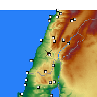 Nearby Forecast Locations - Nabatieh - Χάρτης