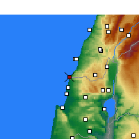 Nearby Forecast Locations - Naqoura - Χάρτης
