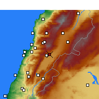 Nearby Forecast Locations - Ζάχλε - Χάρτης