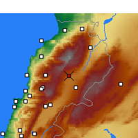 Nearby Forecast Locations - Deir el Ahmar - Χάρτης