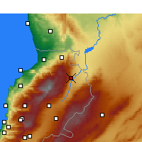 Nearby Forecast Locations - Hermel - Χάρτης