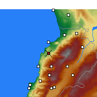 Nearby Forecast Locations - Αμιούν - Χάρτης
