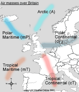 climate and polar maritime air Here maritime polar air masses are constantly coming ashore bringing mild temperatures and high humidity in some cases like northern europe, warm ocean currents moderate the in europe, the oceanic air masses can penetrate further inland, moderating the climate of a much larger region.